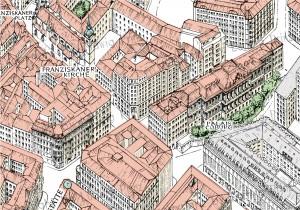 Franziskanerkirche und Palais Koburg